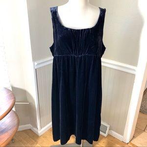 Gap blue velvet sleeveless dress size 18 holiday